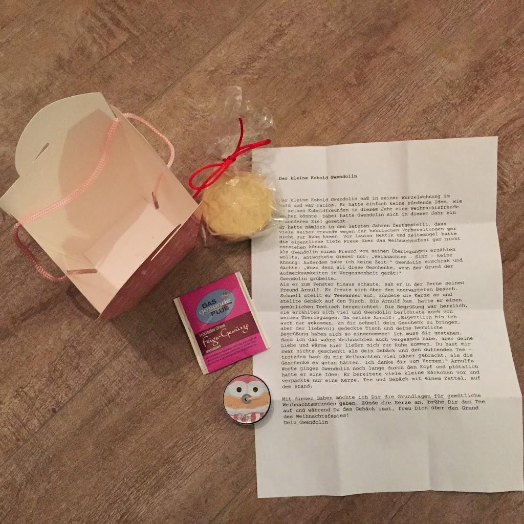 Cool Kleine Weihnachtsgeschenke Basteln Das Beste Von In Die Boxen Kamen 1 Teebeutel, Ein