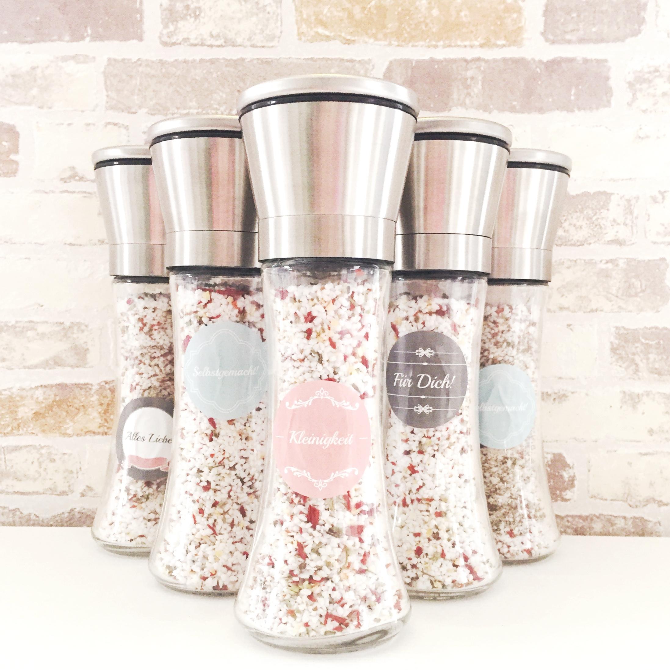 Weihnachten Last Minute Geschenk Idee Selbstgemachtes Kräuter Salz